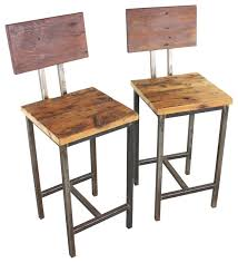 Bar Stool Sets Of 2 Fabulous Reclaimed Wood Bar Stools Set Of 2 Rustic And On Stool