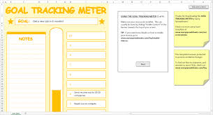 Spreadsheets Templates Goal Tracking Meter Excel Template Savvy Spreadsheets