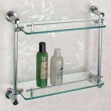 Bathroom Glass Shelves With Towel Bar Glass Shelves