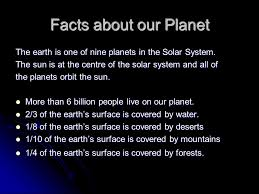 the earth the miracle planet ppt