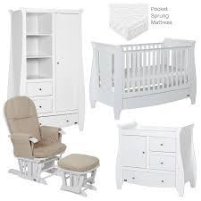 Nursery Furniture Set White Tutti Bambini Lucas 5 Nursery Furniture Set White Baby Pages