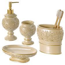amazon com shannon bathroom accessories set 4 piece bathroom