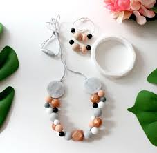 silicone necklace images Bubba chew silicone necklace rose gold bubbles bubba chew jpg