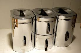silver kitchen canisters kitchen stunning kitchen canister sets for home crate and barrel