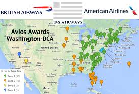 Us Map Washington Dc by Us Airways Flights Using British Airways Avios Out Of Washington