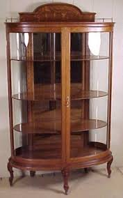 Beveled Glass China Cabinet Oak Curio Cabinets Foter