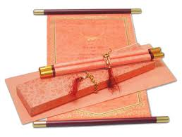 indian wedding invitations scrolls indian wedding card s marriage invitations