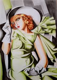 tamara de lempicka young lady with gloves by krzysiek jac on