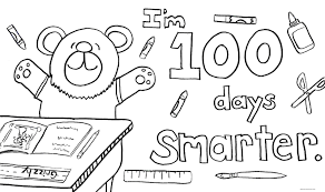 100th day of coloring page coloring pages online