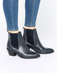 womens boots navy h by hudson celeste chelsea boots navy lizard shoes