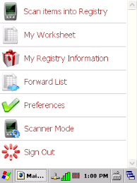 my gift registry gift registry software in store barcode scanner app tour