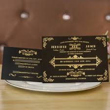 black and gold wedding invitations black wedding invitations online at wedding invites