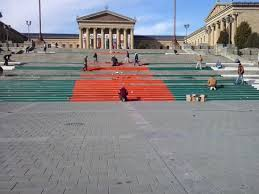 Philly Thanksgiving Day Parade Rocky Steps Being Prepared For Thanksgiving Day Parade Picture Of
