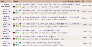 game thrones traffic surge slowed pirate bay noise
