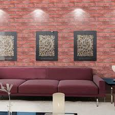 newest pvc brick stone pattern vinyl self adhesive wallpaper roll