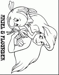 helpful image gallery of flounder coloring pages from the little