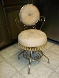 Swivel Vanity Chairs by Vintage Vanity Chair 1930s Metal Strawberry Velvet By Mkmack