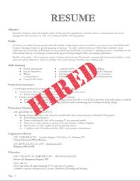chronological resume is needed by people in making them understand