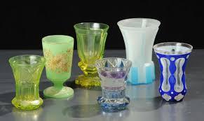 bicchieri boemia lotto di sei bicchieri in vetro di boemia antiquariato e dipinti