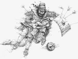 imagen blanco y negro en illustrator las líneas en blanco y negro de guan yu illustrator blanco y negro