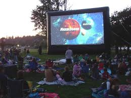 Backyard Movie Night Projector Delaware Inflatable Outdoor Movie Screen Rental Projection