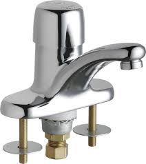 chicago faucet kitchen metering faucet single push handle