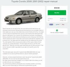 how to download repair manuals 2000 toyota corolla navigation system toyota corolla 2000 2001 2002 repair manual repair manual