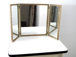 Vanity Folding Mirror Assorted Tri F N Labels Mirror Glass Vanity Along With Drawers For