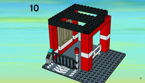 lego fire headquarters instructions 7240 city police rescue
