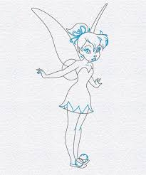 coloring winsome draw pixie fairy drawings mermaid
