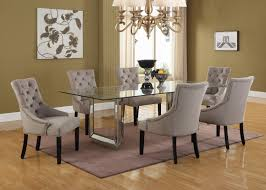 Mirror Dining Table by T1805 U2013 Nicolette 5 Pcs Silver Mirrored Dining Room Set 72