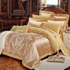 Tribal Print Bedding Noble Elegance Shiny Rose Gold Rococo Pattern With Western Floral