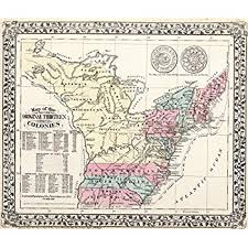 map of colonies amazon com map poster 1776 map of the thirteen colonies 24