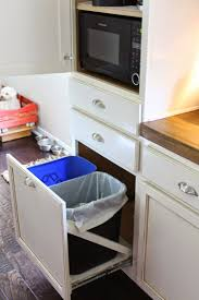 trash can attached to cabinet door trash can and recycle bin pull out with a homemade sliders