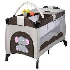 goplus portable baby crib playpen playard pack travel infant