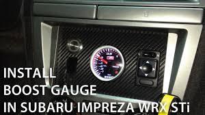 how to install boost gauge in subaru impreza wrx sti custom