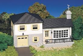 split level house split level house ho scale 45213 27 50 bachmann trains