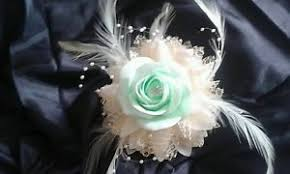 mint green corsage prom wedding wrist corsage mint green ivory or white all colours