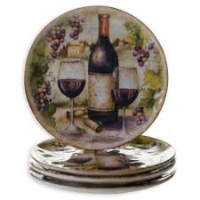wine bottle plates buy wine plates from bed bath beyond
