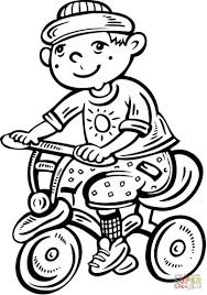 bmx coloring pages coloring pages kids boy riding his bike coloring page bicycle