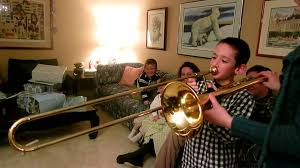 kids first time trombone playing youtube