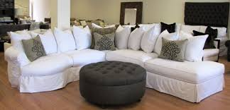 How To Slipcover A Sectional Slipcovered Sectional Sofa Denim Aecagra Org