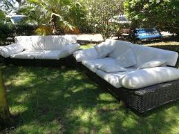 outdoor patio suite furniture x 2 firm solid cane couches visit