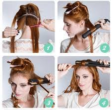how to make flicks with a hair straightener how to curl your hair using a hair straightener