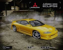 mitsubishi eclipse yellow need for speed most wanted mitsubishi eclipse gsx 1995 nfscars