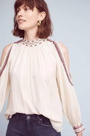 open shoulder blouse magda open shoulder blouse anthropologie