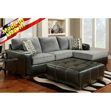 made in usa sofa cumulus black gray two toned sectional sofa chaise set made in
