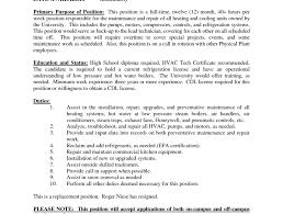 Hvac Installer Job Description For Resume by Plush Design Hvac Technician Resume 8 Hvac Technician Resume