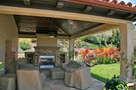 Stone Patio Cover Design Transforms Your Home Dreamscapes - Backyard patio cover designs