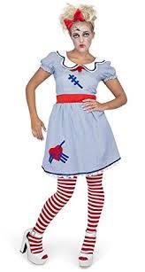 Scary Dolls Costumes Halloween Amazon Women U0027s Scary Doll Costume Halloween
